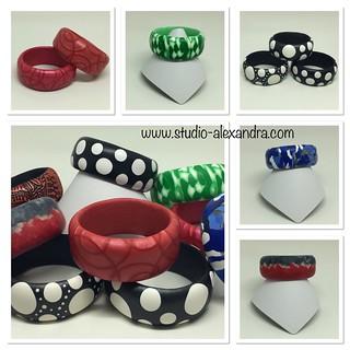 Polymer clay bracelets - 2017