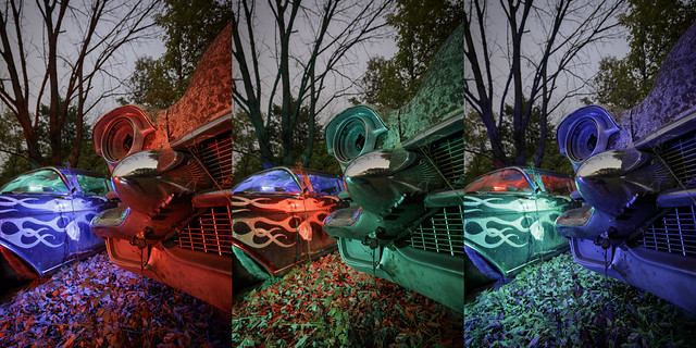 RGB Cadillacs Triptych