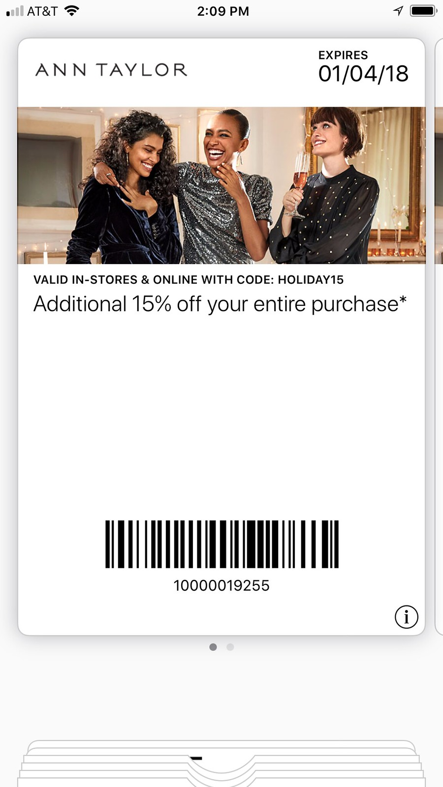 Ann Taylor Holiday Savings for non-cardmembers - Valid through January 4, 2018