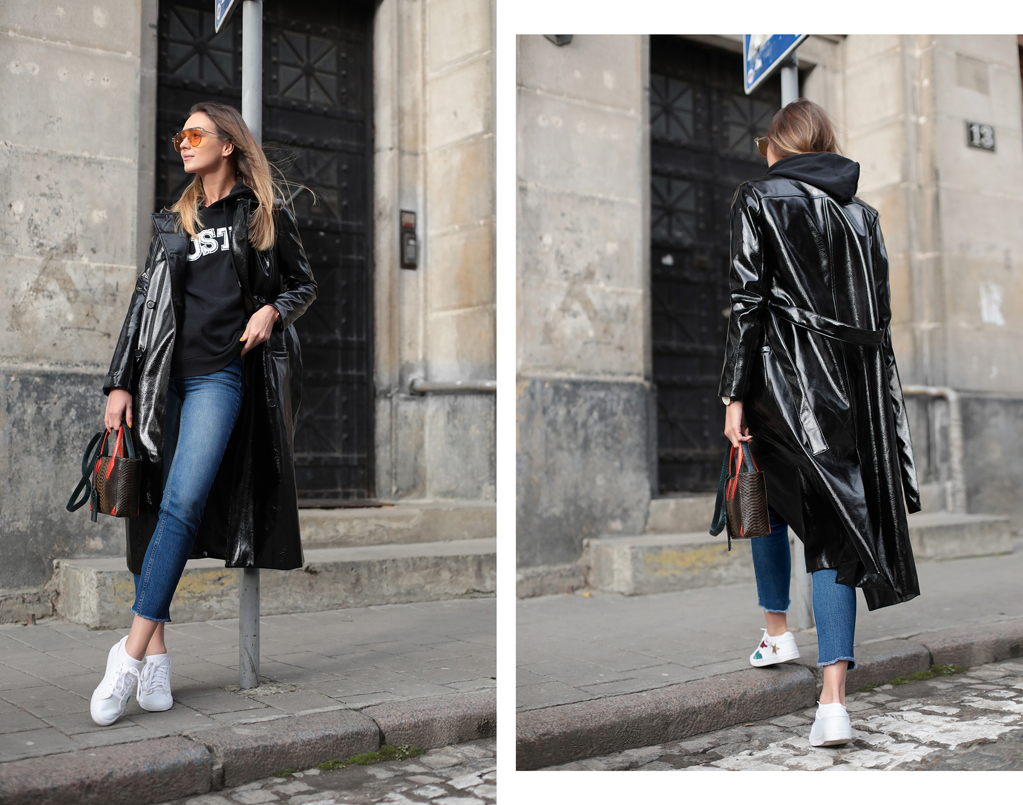 how-to-wear-vinyl-trench-coat-outfit-ideas