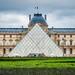 Temps menaçant au dessus du Louvre