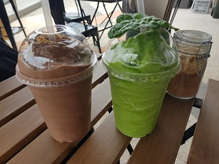 Peanut Butter Cup and Garden of Vegan Smoothies at Loki