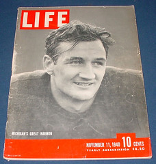 Framed Copy of Tom Harmon on Life