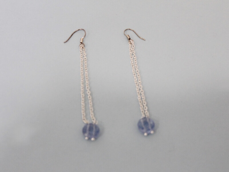 both earrings attached