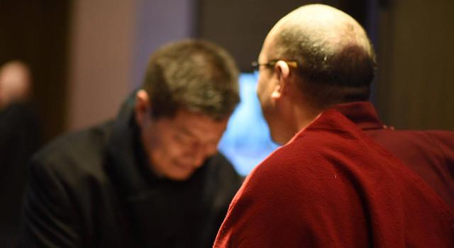 大寶法王噶瑪巴於紐約接見總理洛桑.森格