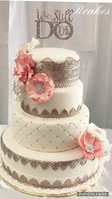 Shabby Chic Cake by Nely Rivera of Rcakes by Chel Nel