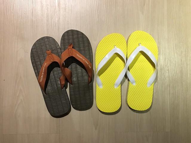 我的拖鞋不見了,所以得到新拖鞋Orz@宜蘭礁溪寒沐酒店