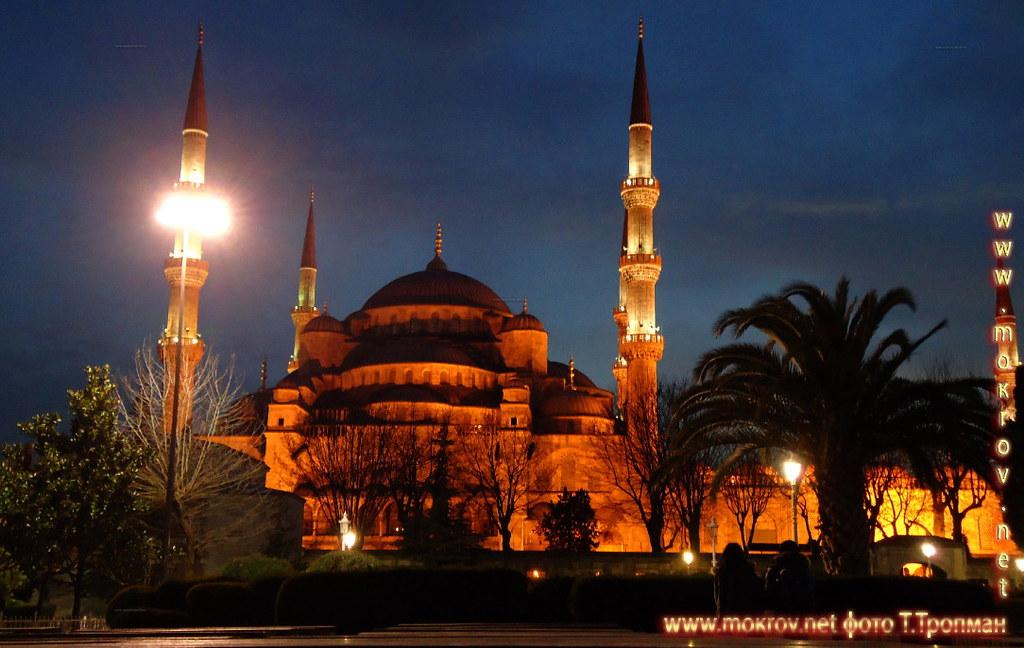 Стамбул Голубая мечеть.