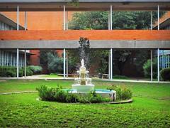 Arlington High School courtyard