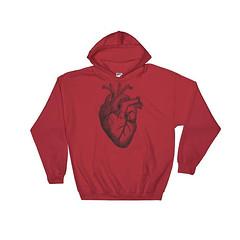 Anatomical Heart Sweatshirt, Anatomical Heart, Gothic Heart, Anatomical Art, Anatomic Heart, Real Heart, Anatomy Heart, Human Heart, Anatomi by 25VintagePlace