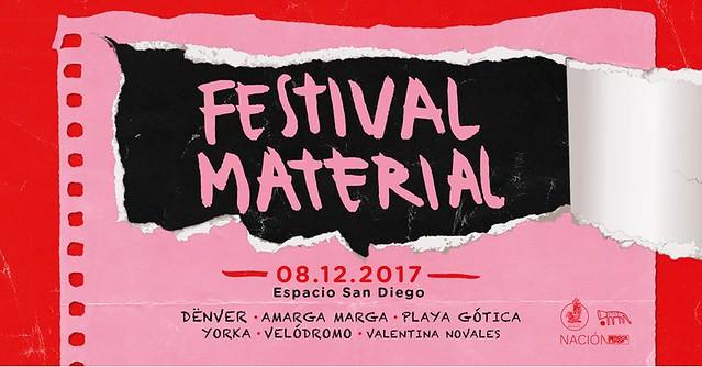 Festival Materiaa 12 de Diciembre Espacio San Diego