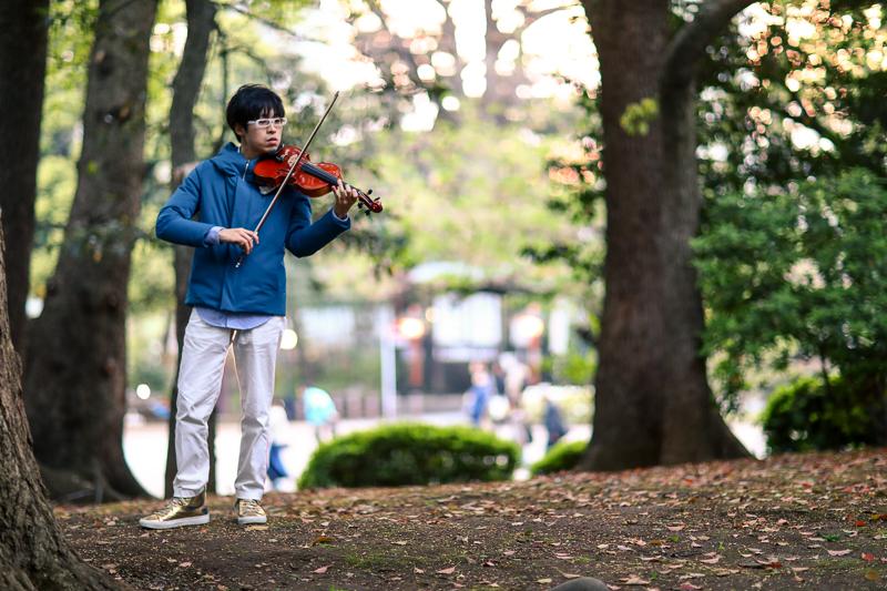 Violinist in Ueno Park