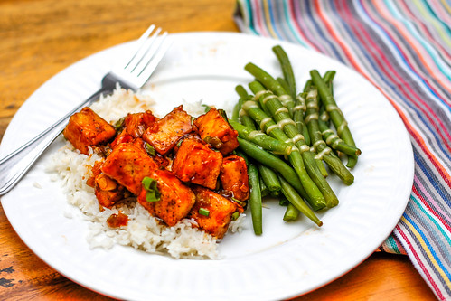 Asian Tofu with Rice and Green Bean | by wuestenigel