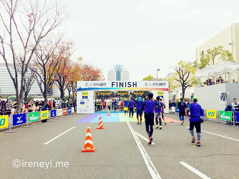 大阪馬拉松2017終點