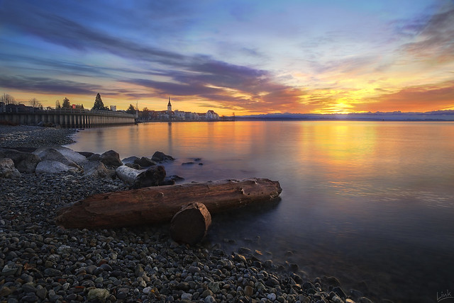 Sunrise at Friedrichshafen, Lake Constance