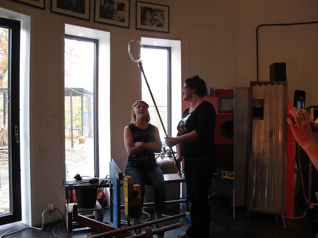 saturday, blowing glass and making paper weights at glastornet with malin mena, nättraby, karlskrona