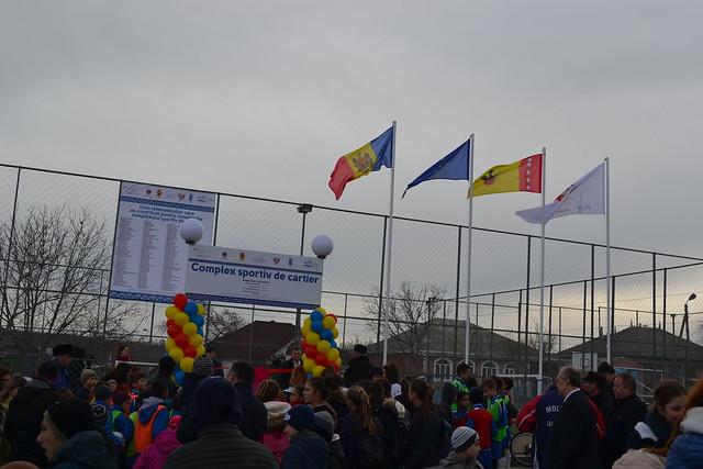 Orașul Telenești are un nou complex sportiv multifuncțional, grație implicării băștinașilor plecați din localitate