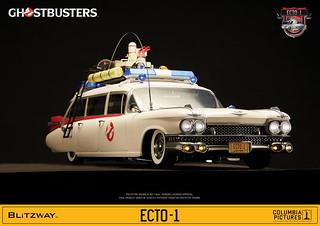 「官圖&販售資訊公開!!」你家的魔鬼剋星們總算能開車出門抓鬼啦!!Blitzway 魔鬼剋星【ECTO-1 抓鬼車】ECTO-1 Vehicle 1/6 比例作品