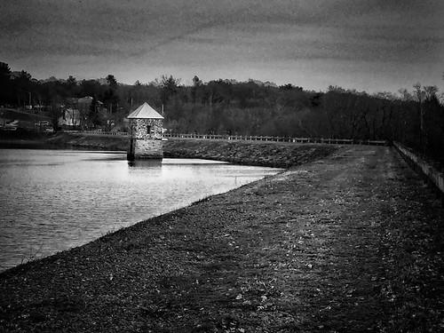 architecture lake water monochrome blackandwhite