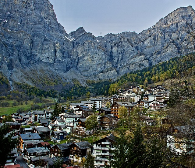 The valley town of Leukerbad