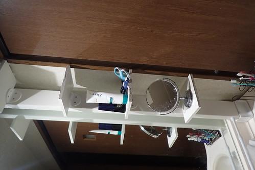 洗面所に棚