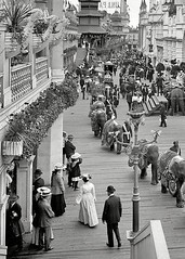 1905 - Coney Island - Luna Park!! If we left the lights on in a room- My Dad would say-