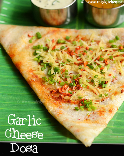 garlic-cheese-dosa-recipe