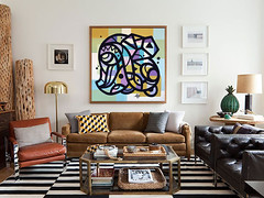 ottograph painting above the sofa nr14