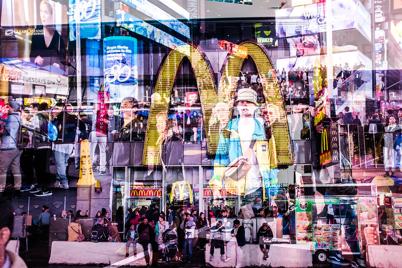 Walk In New York - NYC 2017 - Times Square - Double exposition