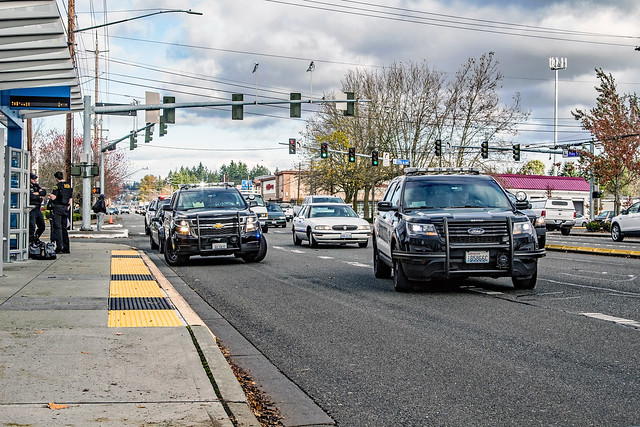 Lynnwood Police Department & Snohomish County Sheriff's Office Vehicles