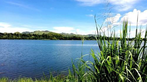 kapayas dam ubay philippines bohol blue nature lake clouds mountains water racs0706 canon samsung shot cebuano vacation grass green canencia ocaña
