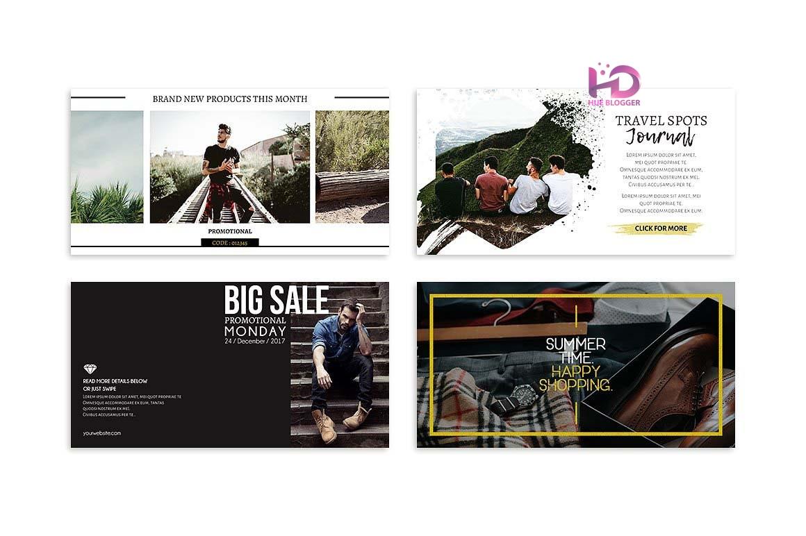 25 PSD thiết kế Banner quảng cáo mạng xã hội