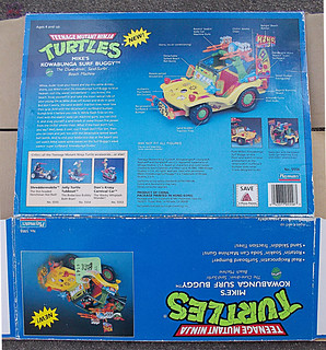 TEENAGE MUTANT NINJA TURTLES :: MIKE'S KOWABUNGA SURF BUGGY ..box iii (( 1991 ))