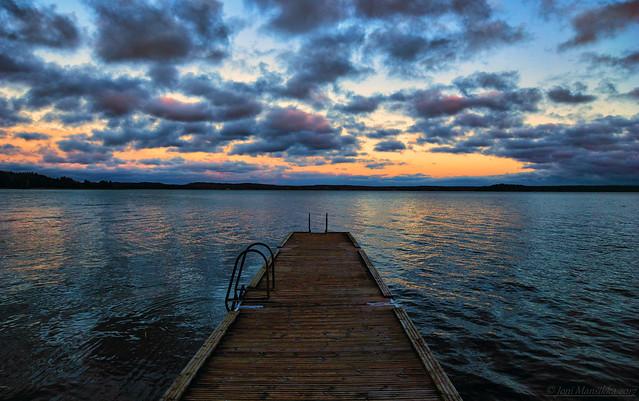 November sunset colours