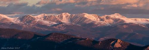 continentaldivide mtflora mteva parrypeak jamespeak landscape colorado sunrise mountains snow winter panorama light evergreen squawpassroad nature earth