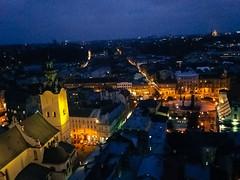 Lviv Belediye Binasından Şehre Bakış
