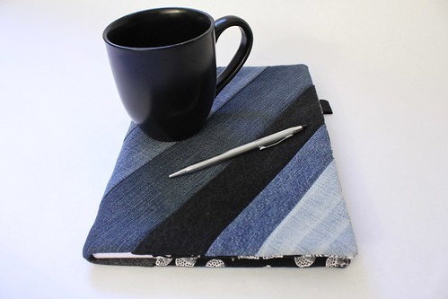 Upcyled Denim Grid Paper Journal