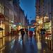 Regenwetter in der Fußgängerzone by .rog3r1