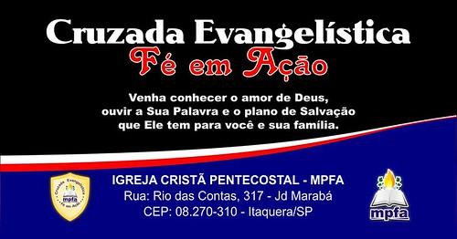 Cruzada Evangelística Fé em Ação em itaquera - SP