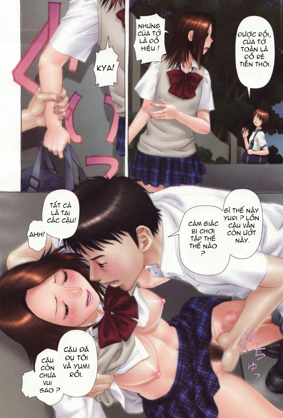 Hiếp dâm tập thể 2 em Yuri xinh đẹp - Truyện Hentai