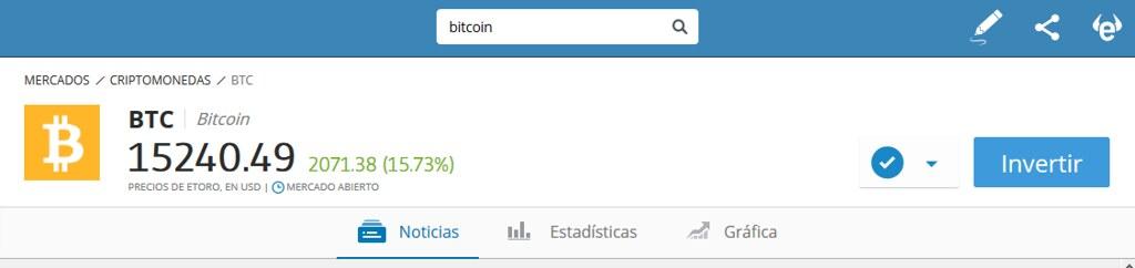 el buscador de etoro Bitcoins