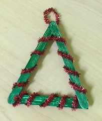 Popsicle Stick Chrismas Trees 4