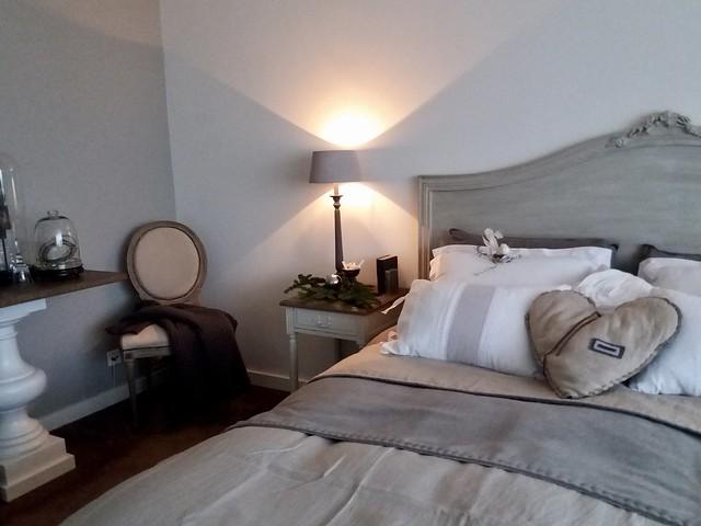 Slaapkamer landelijk brocante, kerstsfeer