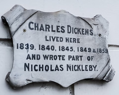 Photo of Charles Dickens marble plaque