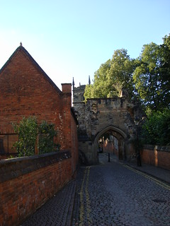 Castle gate in Leicester