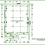 Denah Lantai Dasar (Parkir) Gedung B Gedung Belakang