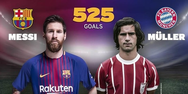 Lionel Messi Mengimbangi Rekor Gerd Muller