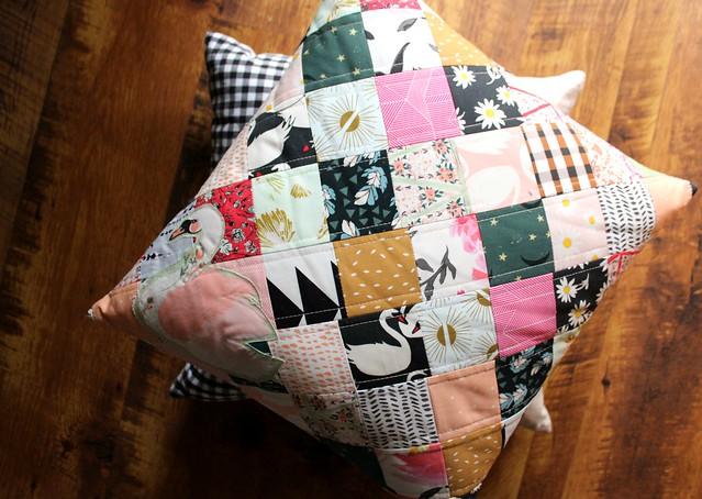 Swan Patchwork Pillows