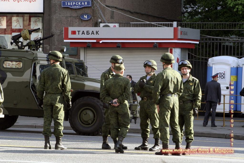 Военный парад 9 мая 2008 г. в Москве фотографии сделанные днем и вечером