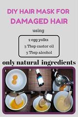DIY Hair Mask For Damaged Hair Using Only Natural Ingredients